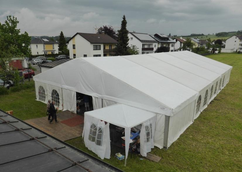 Zelt am Mewaiki-Fest (Foto D.M.)
