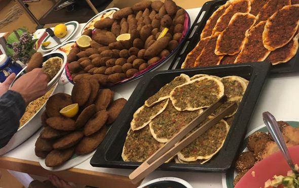 Syrische Speisen von unseren Asylbewerbern